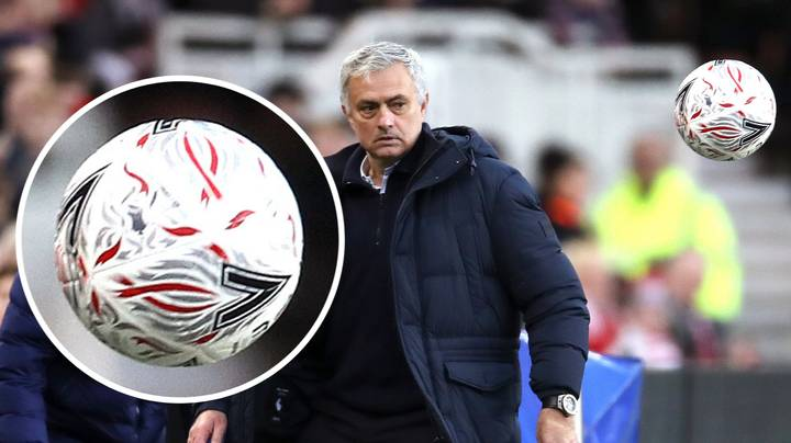 """Jose Mourinho Makes Extraordinary Claim That Ball Used In FA Cup Tie Was """"A Beach Ball"""""""