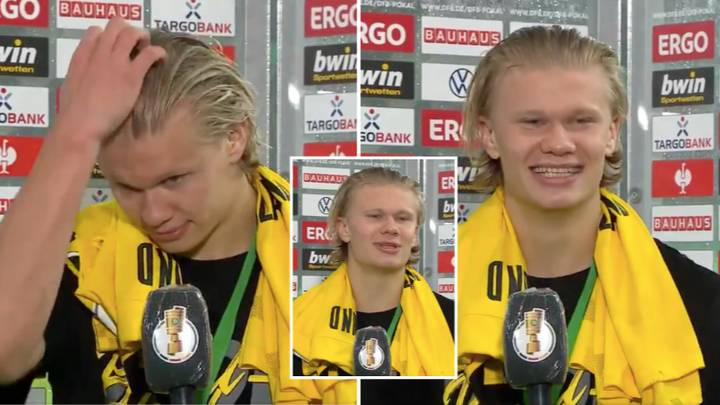 Erling Haaland Gives Longest Post-Match Interview Yet And His Incredible Personality Was On Show