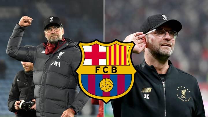 Barcelona Fans Vote For Jurgen Klopp To Become Manager Next Season