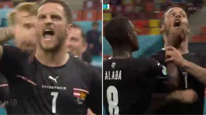 Marko Arnautovic Absolutely Loses His Head In Wild Celebration During Austria's Match