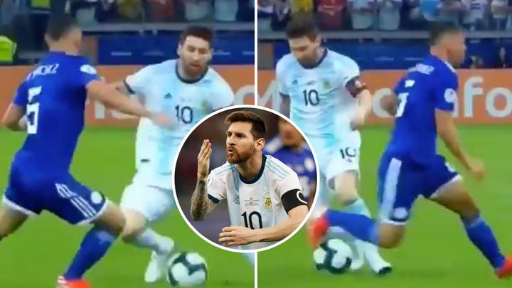 Lionel Messi's Incredible Movement Left Paraguay Player Absolutely Helpless