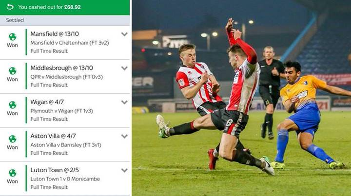 Punters Cash Out Costs Him Nearly £1000 After Goal 1 Minute Later