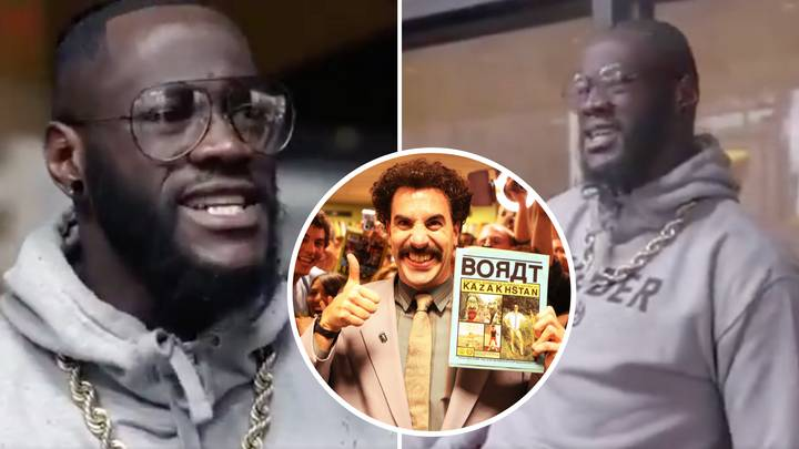 Remembering When Deontay Wilder's Shocking Attempt At An English Accent Made Him Sound Like Borat