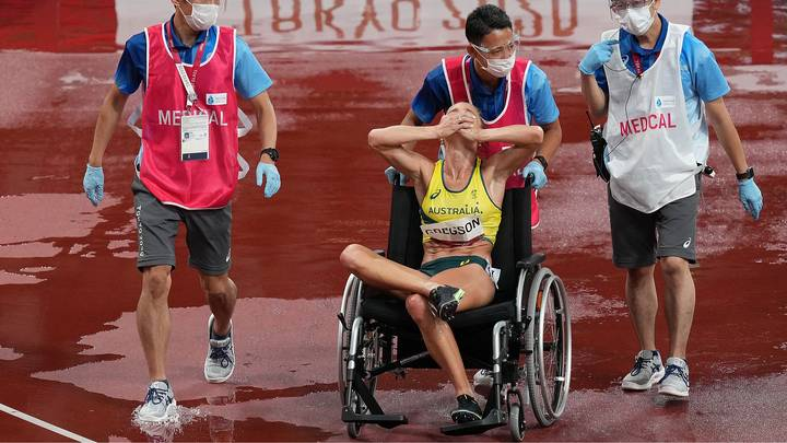 Two Olympic Athletes Forced To Leave In Wheelchairs After Horror Injuries