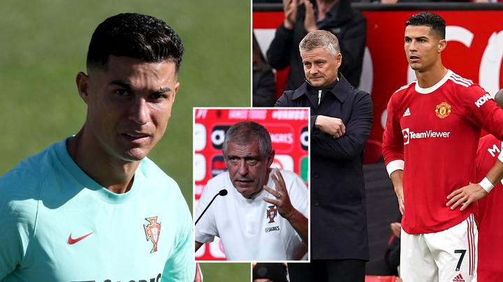 Portugal Manager Aims Subtle Dig At Ole Gunnar Solskjaer Over Cristiano Ronaldo's Playing Time At Man United