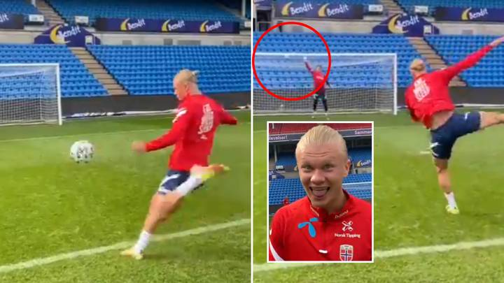 Erling Haaland Breaks The Sound Barrier With Ridiculous Volley And Laughs At It, He's A Monster