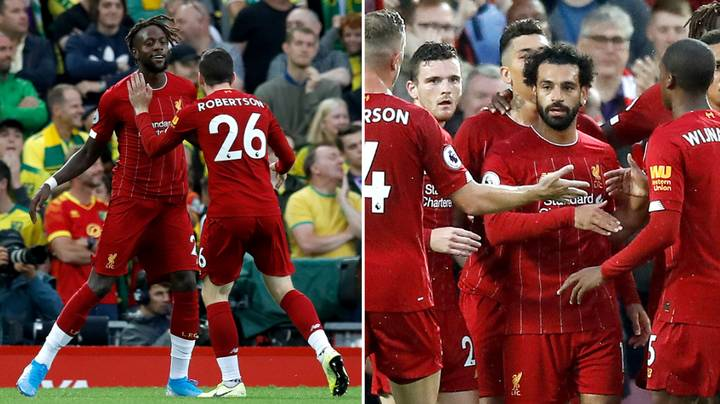 Liverpool Are Leading Norwich City 4-0 In Premier League Opener And It's Only Half-Time