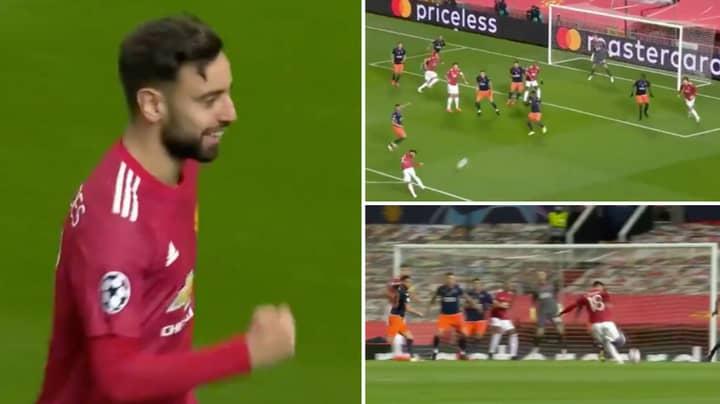 Bruno Fernandes Scores Absolute Screamer For Manchester United Against Istanbul Basaksehir