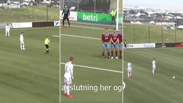 Player Scores Eight Minute Hat-Trick Of Brilliant Free Kicks