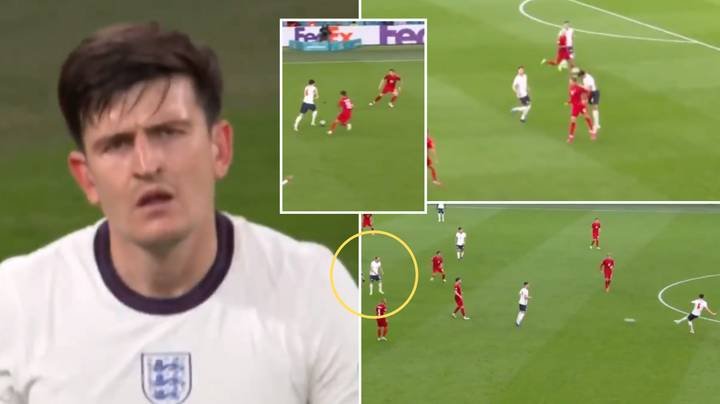 Compilation Of Harry Maguire's Colossal Performance Vs. Denmark Shows He's An Elite Centre-Back