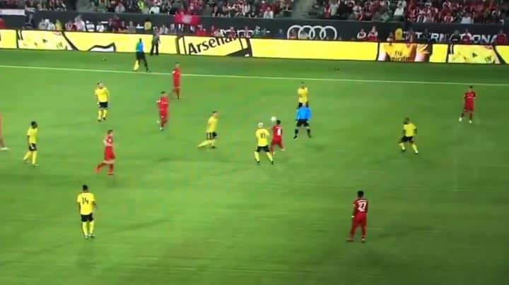 Bayern Munich's Thiago Alcantara Produces Excellent Touch Against Arsenal
