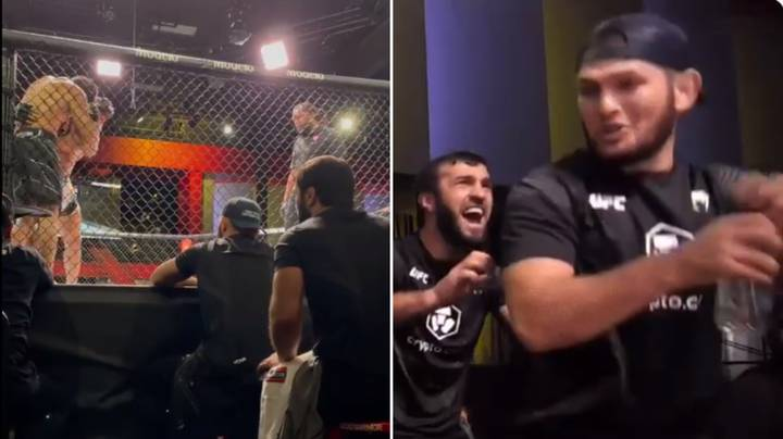 Cageside Video Shows Coach Khabib Implementing 'Father's Plan' And It's So Fascinating