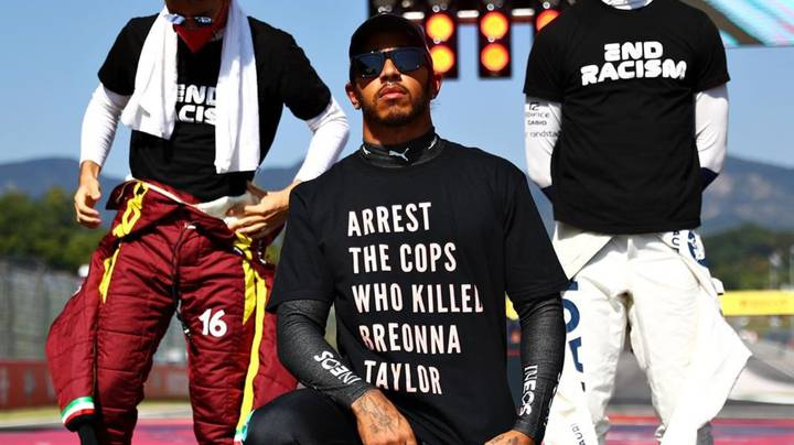 Lewis Hamilton In Hot Water Over Breonna Taylor T-Shirt
