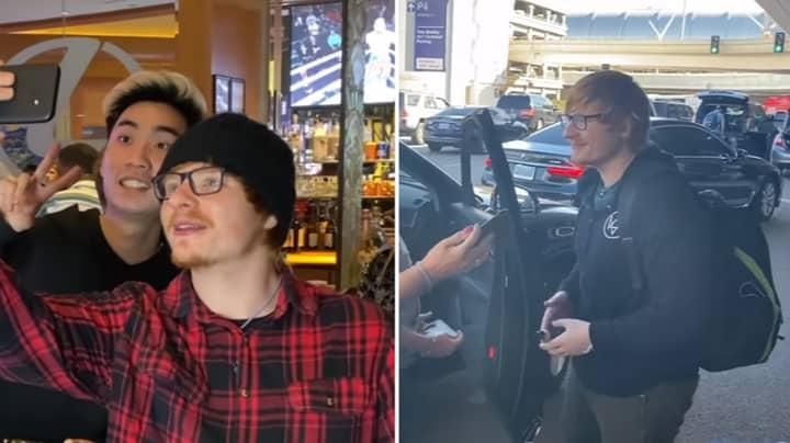 YouTubers Managed To Get Fake Ed Sheeran Into KSI Vs Logan Paul II