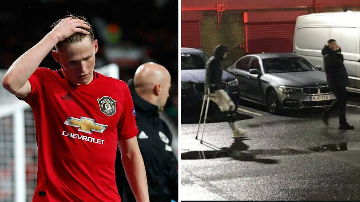 Scott McTominay Suffers Knee Ligament Injury And Leaves Old Trafford On Crutches