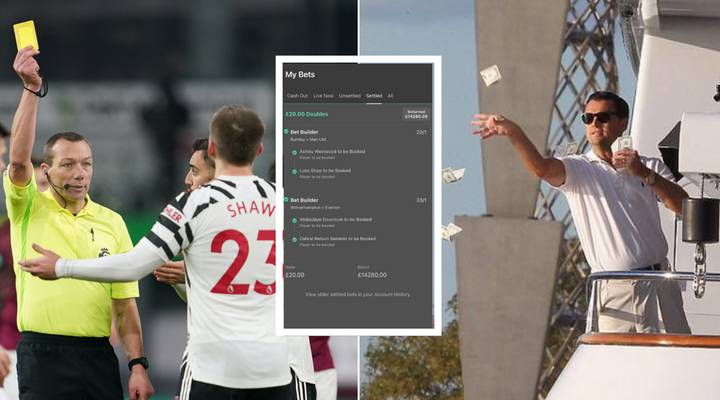 Incredible Bet Sees Punter Win £14,280 From Just Four Yellow Cards