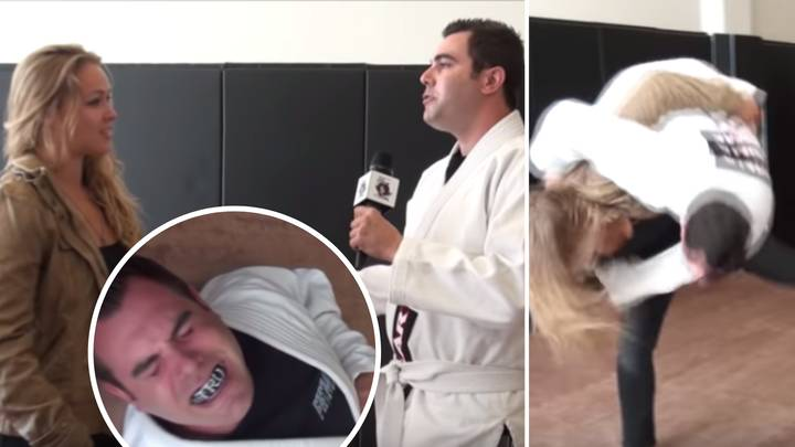 Ronda Rousey Broke Presenter's Ribs With Judo Throw After Claiming 'She Can't Compete With A Man'
