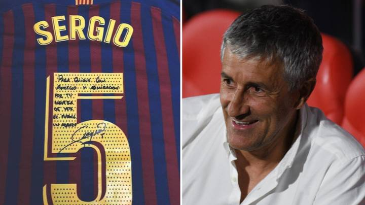 Sergio Busquets Shows Class By Gifting Shirt To Betis Manager Quique Setien