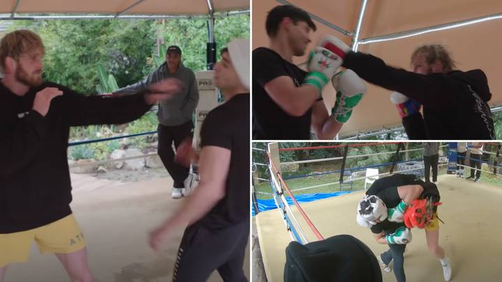 Logan Paul Has Been 'Taught How To KO Floyd Mayweather' In Fascinating Training Footage