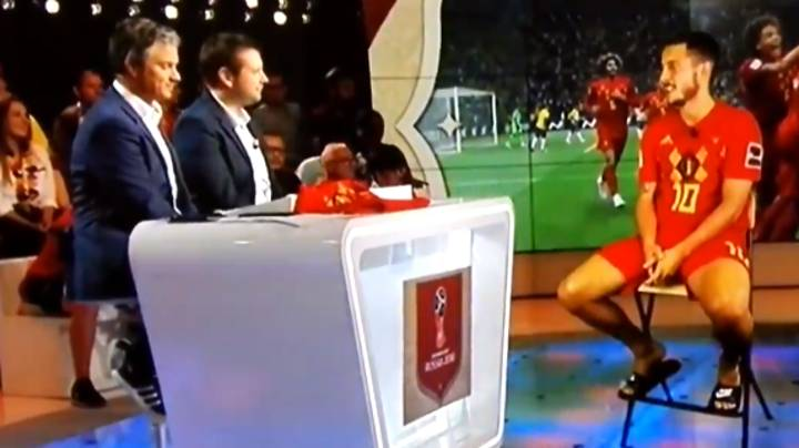 Watch: Eden Hazard Interviewed By Belgium TV Via Hologram