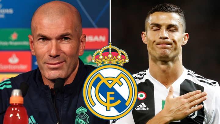 Zinedine Zidane 'Confirms' Cristiano Ronaldo To Real Madrid Rumours Could Be True