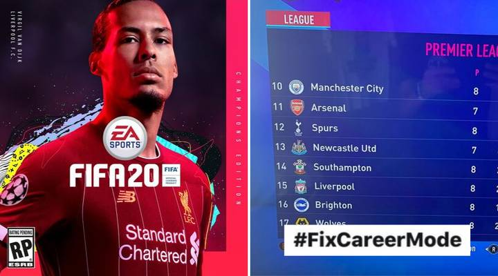 #FixCareerMode Trends On Twitter On FIFA 20 Launch Day