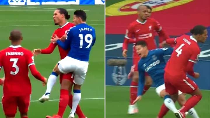Footage Shows The Exact Moment Virgil Van Dijk Injured James Rodriguez In The Merseyside Derby