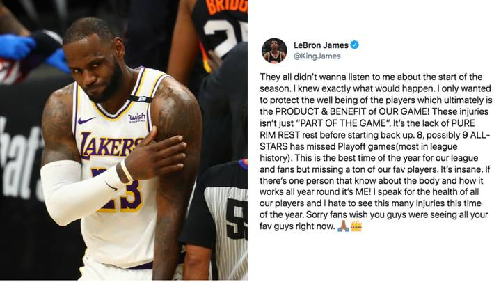 NBA Fact Checks LeBron James After He Blamed The League For Increased Injuries