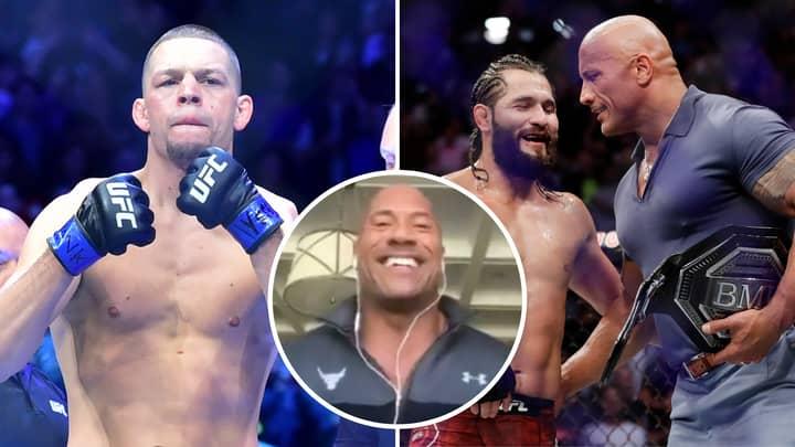 Dwayne 'The Rock' Johnson Reacts To Nate Diaz Hilariously Slating Him After UFC 244