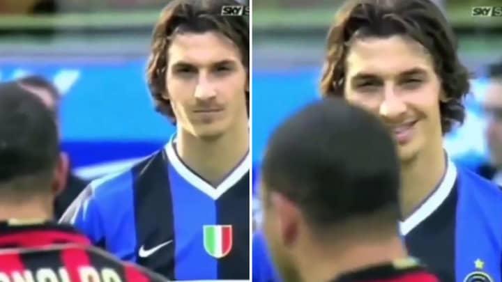 When Zlatan Ibrahimovic Gazed In Awe At His Idol Ronaldo Nazario Ahead Of A Milan Derby