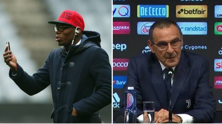 Paul Pogba 'Calls Maurizio Sarri To Convince Juventus Manager To Sign Him'