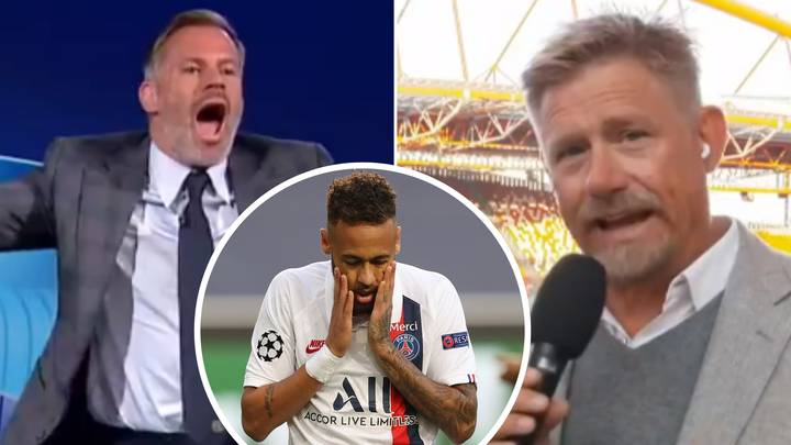 """""""Stick To Goalkeeping!"""" - Jamie Carragher And Peter Schmeichel Involved In Intense Live Debate Over Neymar"""