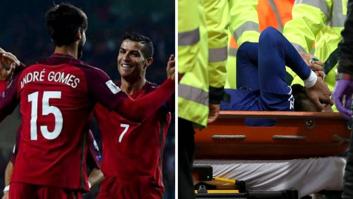 Cristiano Ronaldo Sends Touching Message To International Teammate Andre Gomes After Horror Injury