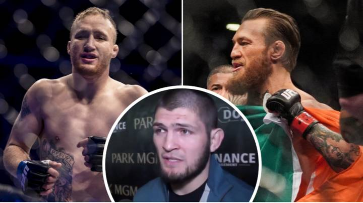 Khabib Nurmagomedov Gives His Prediction For Conor McGregor Vs. Justin Gaethje