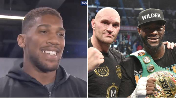 Anthony Joshua Responds To Tyson Fury Saying Deontay Wilder Would KO Him In Two Rounds