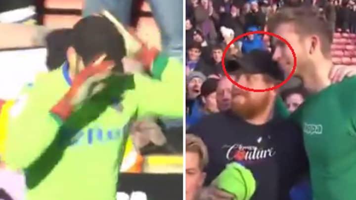 Watch: Leeds Fans Brilliantly Rescues Keeper Felix Wiedwald From The Sun