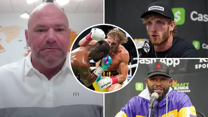 UFC President Dana White Gives Honest Verdict On Floyd Mayweather Vs Logan Paul Clash