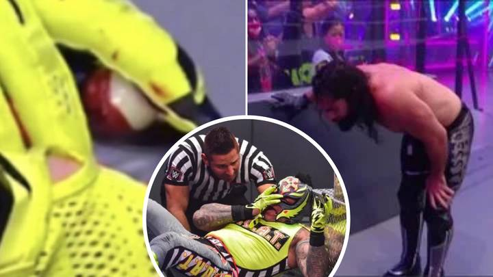 WWE Legend Rey Mysterio 'Has His Eye Popped Out' As Seth Rollins Vomits In Horrific Match
