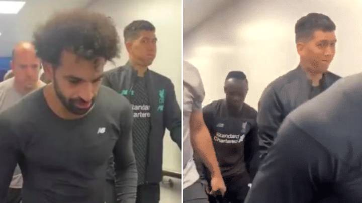 Roberto Firmino Pulls Hilarious Face As He Walks Between Mane And Salah After Liverpool's Victory