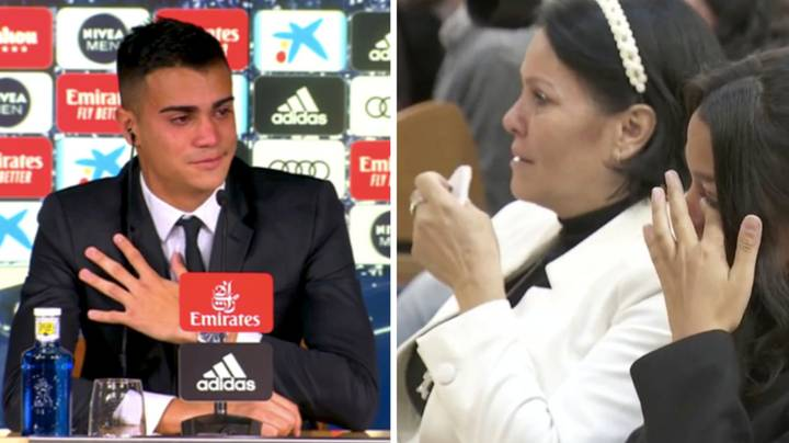 Reinier Jesus And His Family Overcome With Emotion In First Real Madrid Press Conference