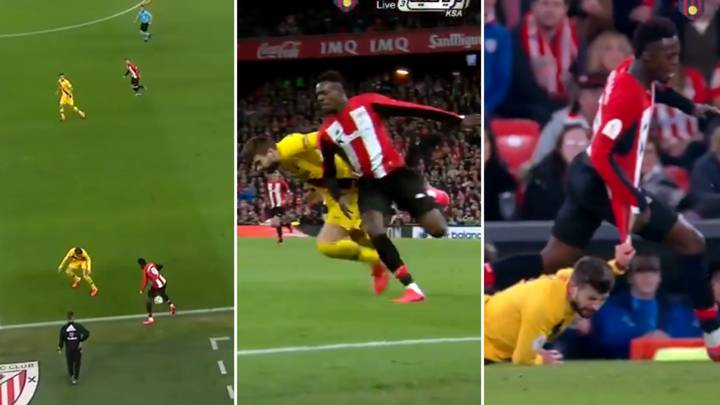 Inaki Williams Destroyed Gerard Pique In A Foot Race And It Wasn't Even Close