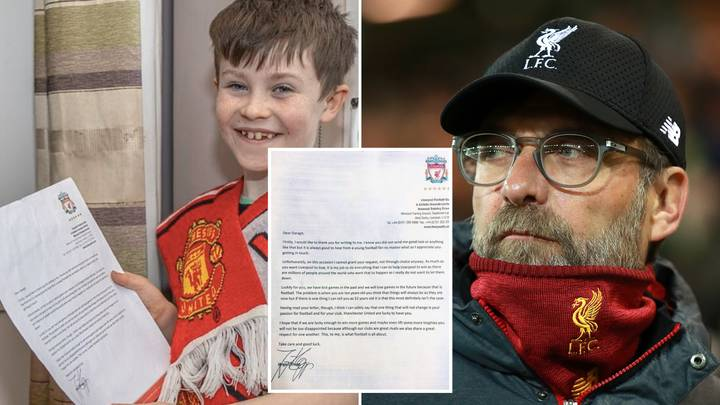 Jurgen Klopp Brilliantly Replies To Young Manchester United Fan's Letter