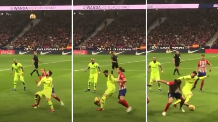 The Slow-Motion Version Of Lionel Messi's 'Impossible' Nutmeg On Felipe Luis Is Still Baffling People To This Day