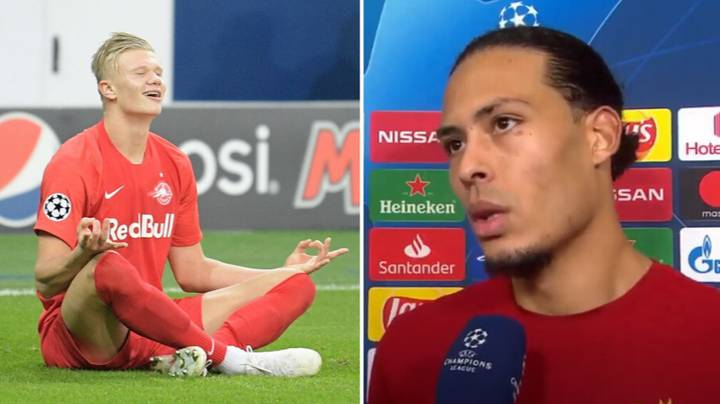 Virgil Van Dijk Walked Out Of Interview After Being Annoyed By Impressive Erling Haaland