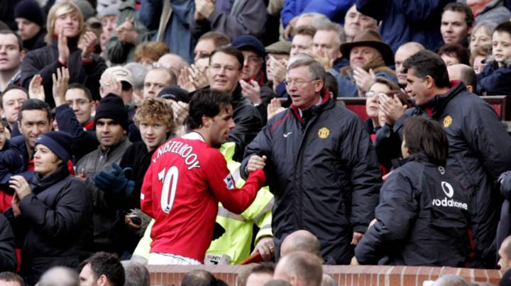 Sir Alex Ferguson Was Fuming When Ruud Van Nistelrooy Swapped Shirts With Man City Player