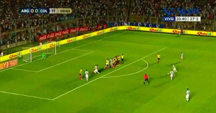 WATCH: Lionel Messi's Free Kick Against Colombia Is Bloody Good