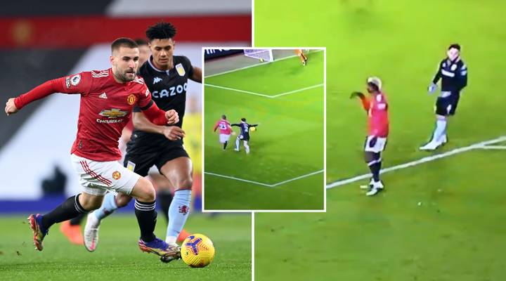 Fans Think Paul Pogba Told Luke Shaw To 'Dive' During Manchester United Vs Aston Villa