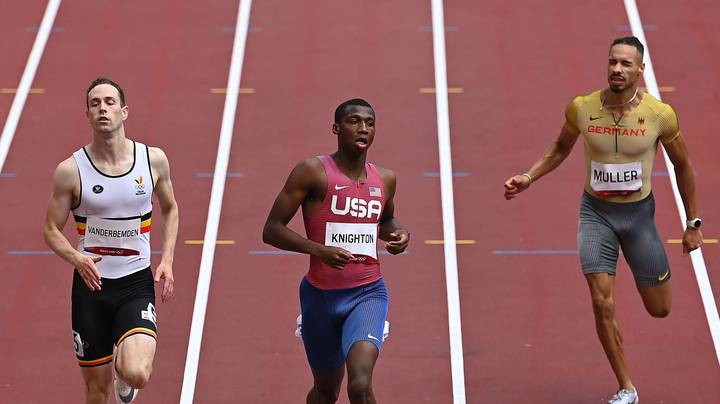 17-Year-Old Erriyon Knighton Stares Down Opponents In Olympics 200m Semi Final Destruction