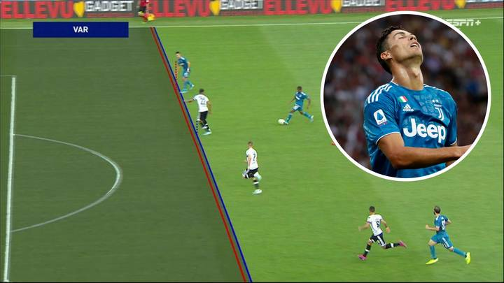 Cristiano Ronaldo Denied First Goal Of The Season After VAR Ruled His Head Offside