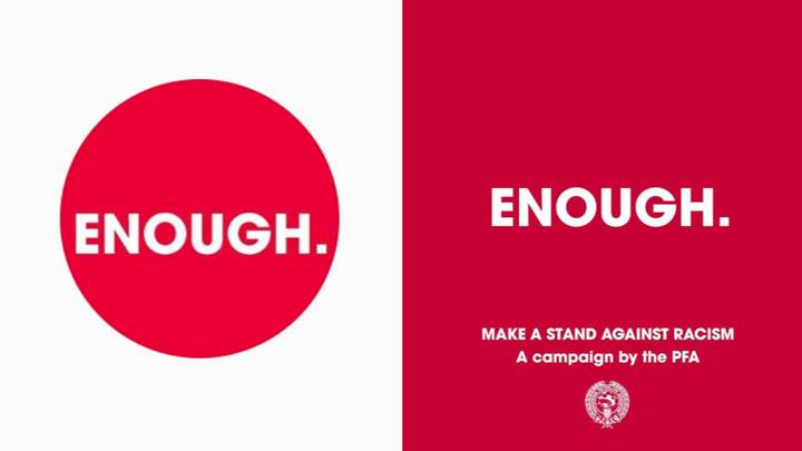 Footballers Boycott Social Media In PFA's #Enough Campaign Against Racism